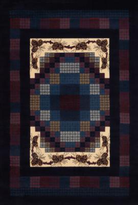 United Weavers Manhattan Collection Gingham Pine Rectangular Rug