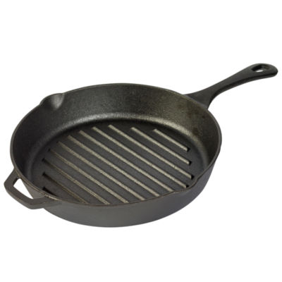 "Tabletops Unlimited Cast Iron 11"" Grill Pan"