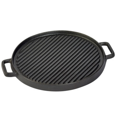"Tabletops Unlimited Cast Iron 12"" Reversible Griddle"