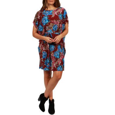 24/7 Comfort Apparel Ibiza Town Mini Dress