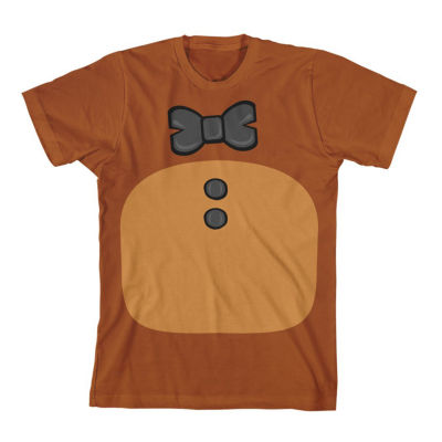 Boys Round Neck Short Sleeve Five Nights at Freddys Graphic T-Shirt Preschool / Big Kid