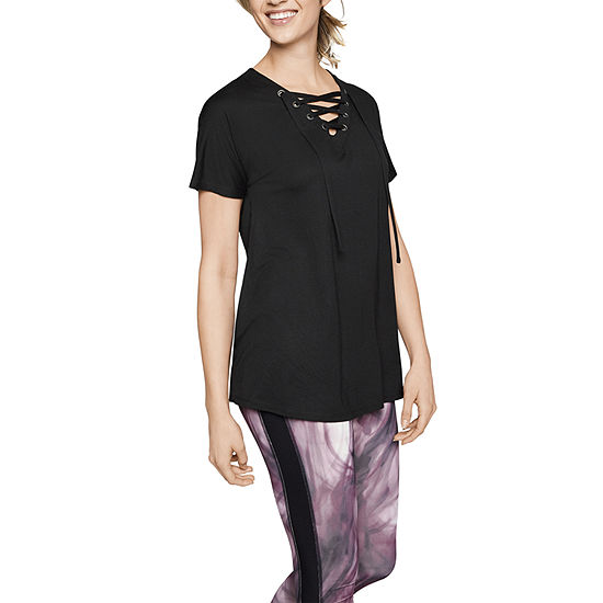 Xersion Lace Up Tee