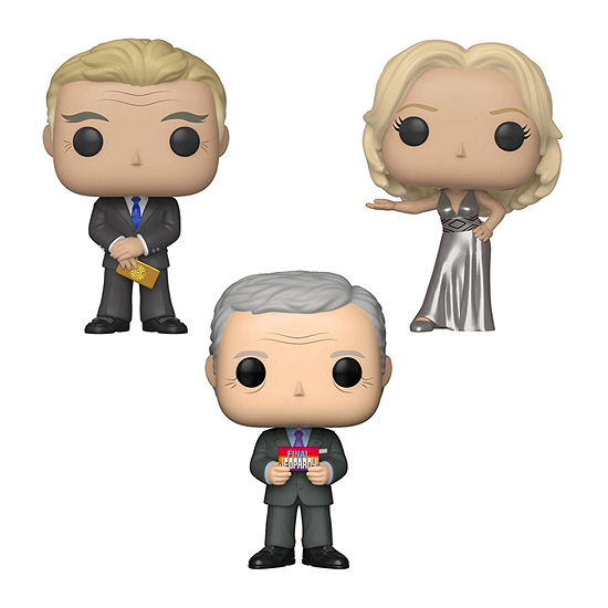 Funko Pop! Tv Prime Time Tv Collectors Set - Pat Sajak Vanna White Alex Trebek