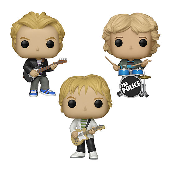 Funko Pop! Rocks The Police Collectors Set - Sting Andy Summers Stewart Copeland