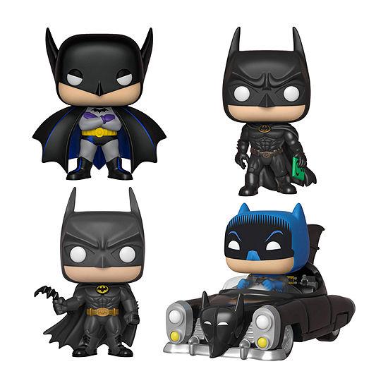 Funko Pop! Heroes Batman 80th Anniversary Collectors Set - Batman (1st Appearance) Batman (1989) Pop! Rides 1950 Batmobile Batman (1995)