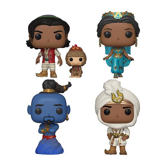 Funko Pop! Disney Aladdin Collectors Set - Aladdin Of Agrabah W/ Abu Aladdin Prince Ali Jasmine Genie