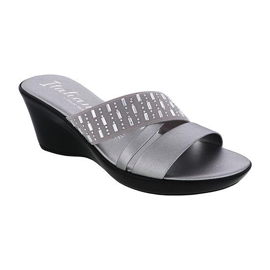 Italiana By Italian Shoemakers Womens Dottie Slide Sandals