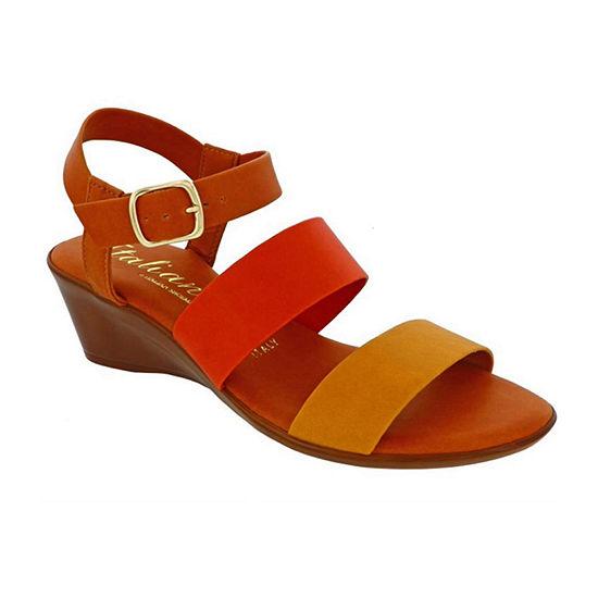 Italiana By Italian Shoemakers Womens Sylvie Wedge Sandals