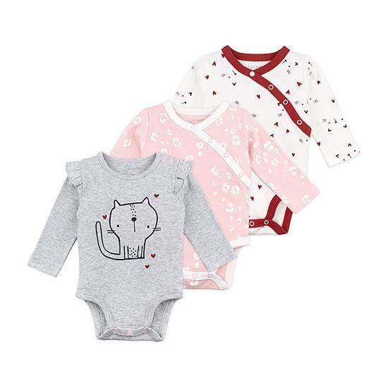 Mac And Moon Girls 3-pc. Bodysuit-Baby