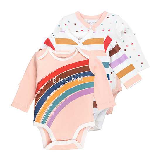 Mac And Moon Girls 3-pc. Bodysuit-Baby