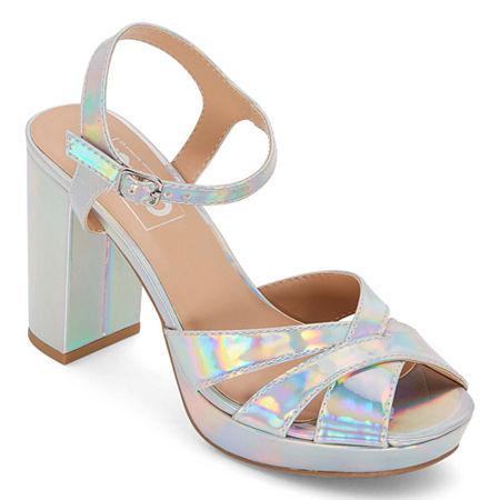 70s Clothes | Hippie Clothes & Outfits Pop Womens Garcelle Heeled Sandals 8 12 Medium Silver $29.99 AT vintagedancer.com