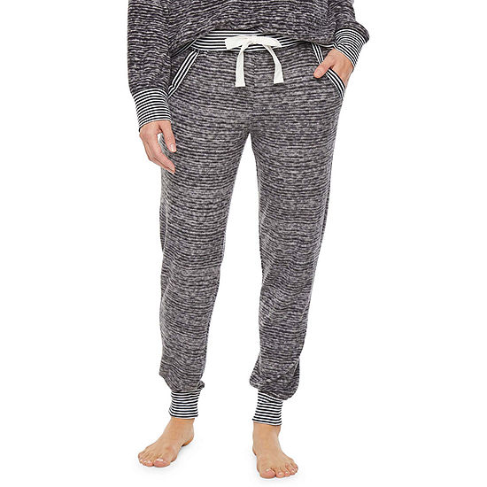Jaclyn Fuzzy Luxe Womens Knit Pajama Pants