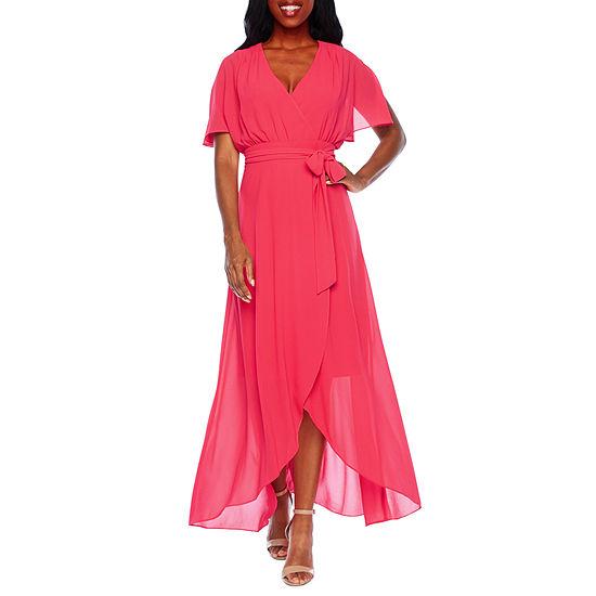 Jessica Howard Short Sleeve Midi Maxi Dress