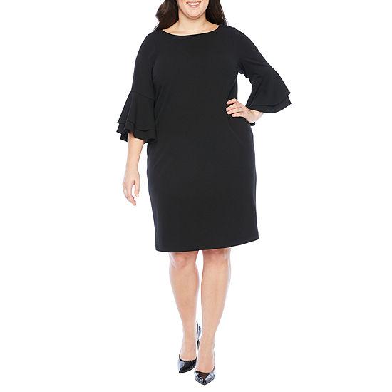 Ronni Nicole 3/4 Sleeve Sheath Dress - Plus