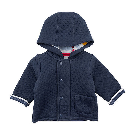 Mac And Moon Dog-Baby Boys Hooded Midweight Quilted Jacket