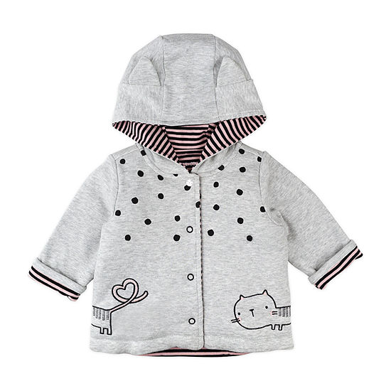 Mac And Moon Kitty Girls Hooded Midweight Quilted Jacket-Baby