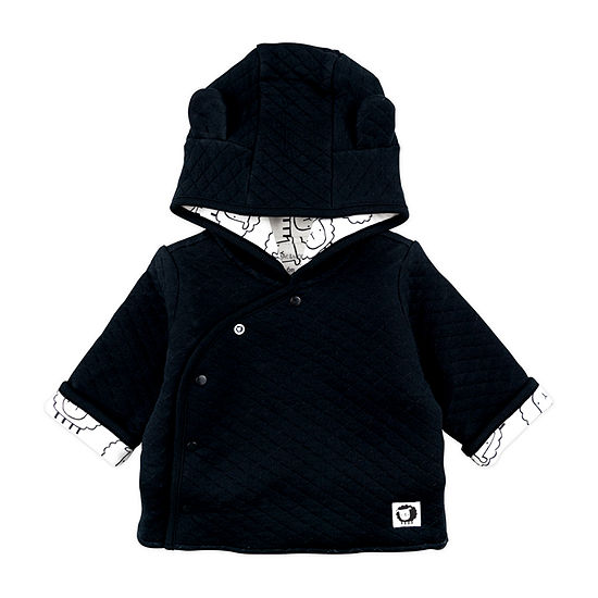 Mac And Moon Sheep-Baby Boys Hooded Midweight Quilted Jacket