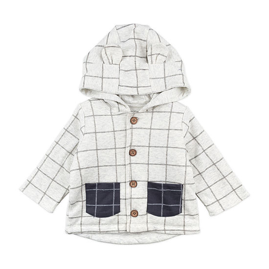 Mac And Moon Woodland Boys Hooded Midweight Quilted Jacket-Baby