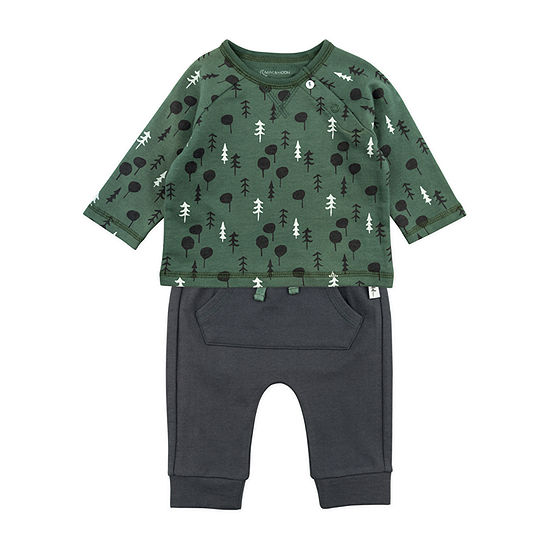 Mac And Moon Camping-Baby Boys 2-pc. Baby Clothing Set
