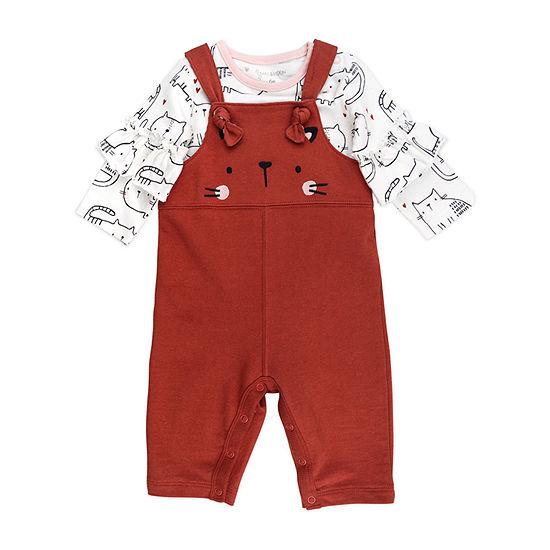 Mac And Moon Kitty Girls 2-pc. Baby Clothing Set-Baby