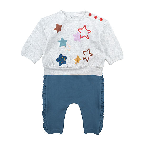 Mac And Moon Rainbow Girls 2-pc. Baby Clothing Set-Baby