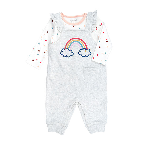 Mac And Moon Rainbow Girls 2-pc. Baby Clothing Set-Baby