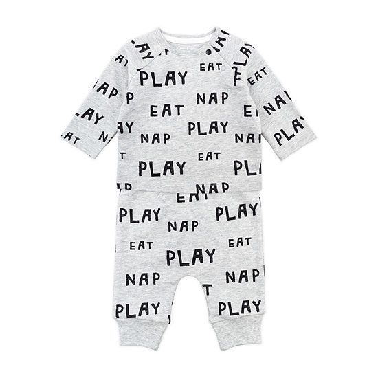 Mac And Moon Sheep Unisex 2-pc. Baby Clothing Set-Baby
