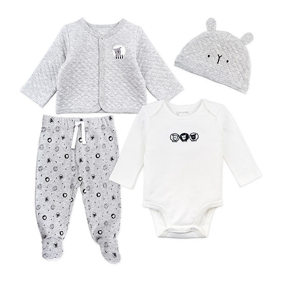 Mac And Moon Sheep-Baby Unisex 4-pc. Baby Clothing Set