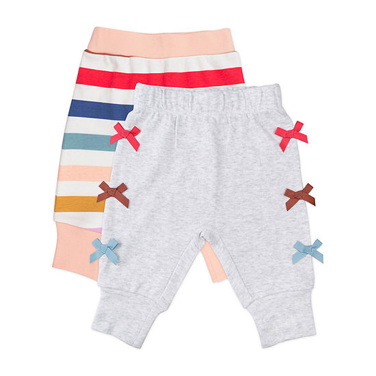 Mac And Moon Rainbow - Baby Girls 2-pc. Pull-On Pants
