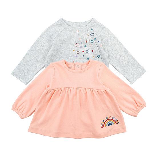 Mac And Moon Rainbow - Baby Girls Long Sleeve Kimono