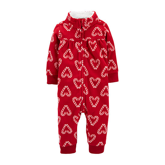 Carter's Christmas Baby Girls Long Sleeve Jumpsuit