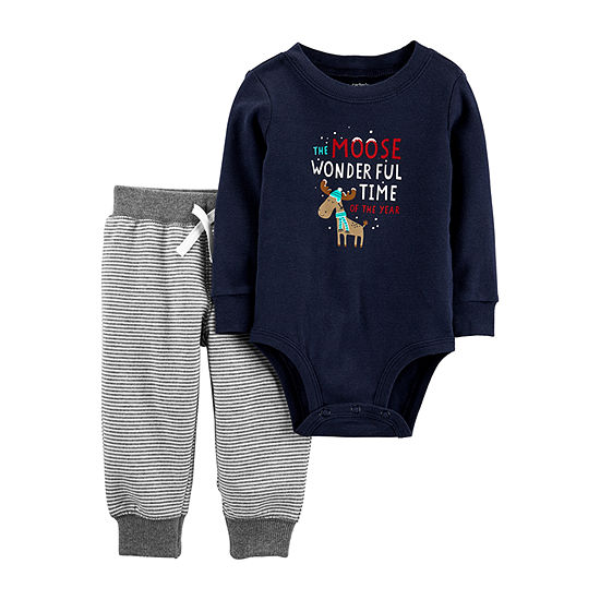 Carter's Christmas Baby Boys 2-pc. Bodysuit Set