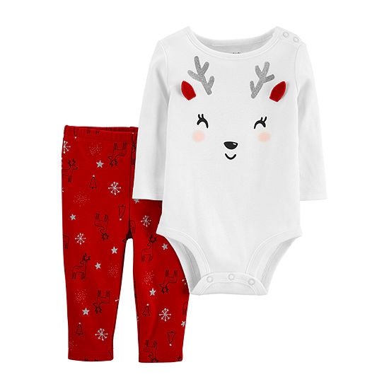 Carter's Christmas Girls 2-pc. Bodysuit Set-Baby