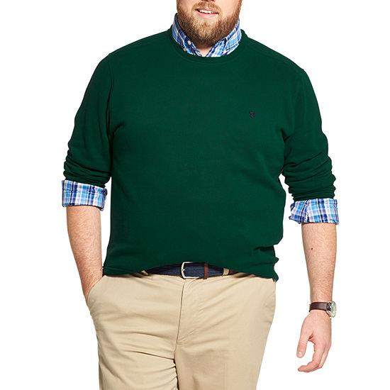 IZOD Big and Tall Fleece Crewneck Pullover