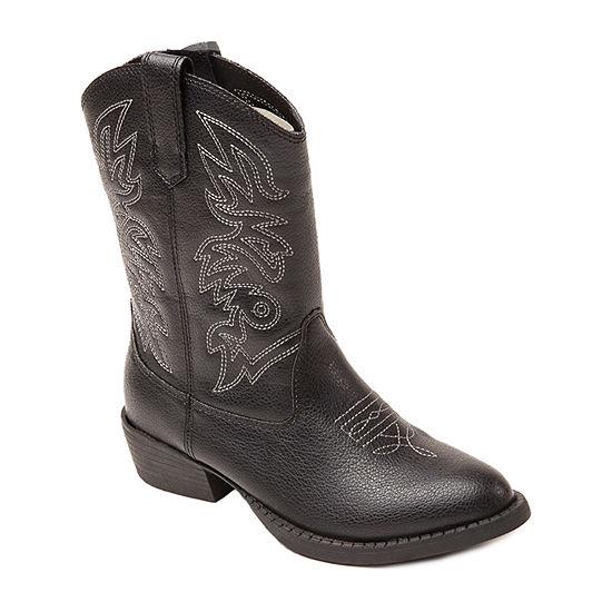 Deer Stags Little Kid/Big Kid Unisex Ranch Cowboy Boots Block Heel