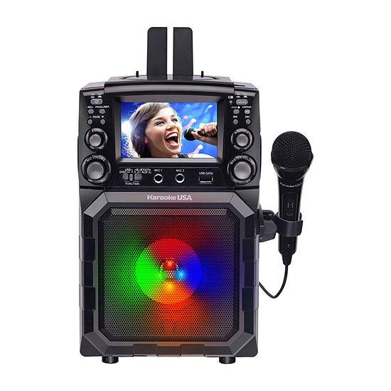 "Karaoke USA Portable CDG/MP3G Bluetooth Karaoke Player with 4.3"" TFT Color Screen - GQ450"
