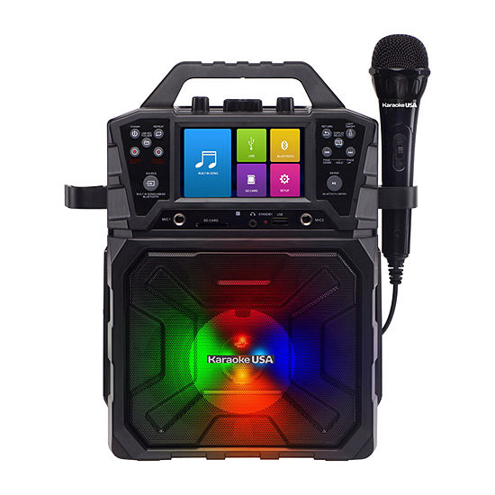 """Karaoke USA Portable MP3G Bluetooth Karaoke System with 4.3"""" TFT Digital Color Screen and Record Function - SD520"""