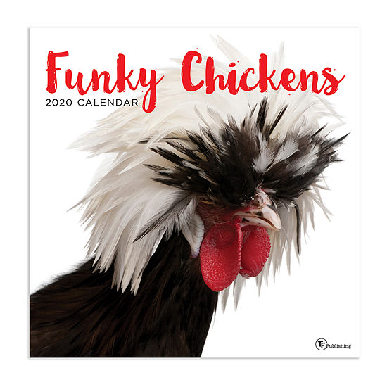 Tf Publishing 2020 Funky Chickens Wall Calendar
