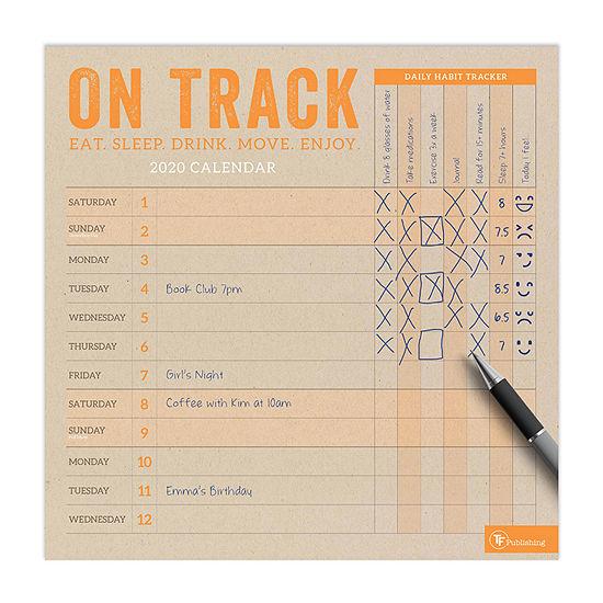 Tf Publishing 2020 On Track Wall Calendar
