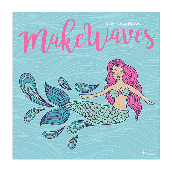 Tf Publishing 2020 Mermaids: Make Waves Wall Calendar