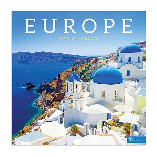 Tf Publishing 2020 Europe Wall Calendar