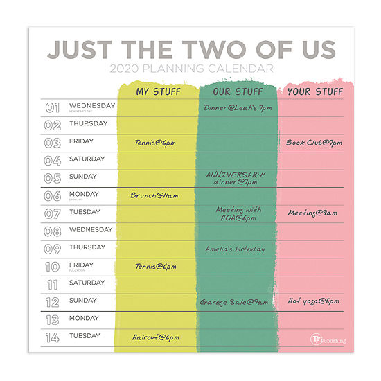 Tf Publishing 2020 Just The Two Of Us Wall Calendar