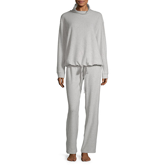 Ambrielle Womens Pant Pajama Set 2-pc. Long Sleeve
