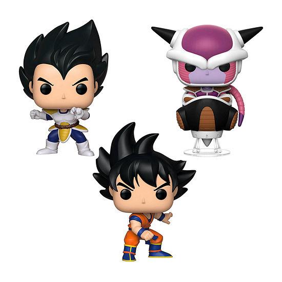 Funko Pop! Animation Dragon Ball Z Series 6 Collectors Set - Vegeta Goku Frieza