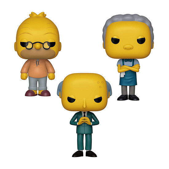 Funko Pop! Animation Simpsons Collectors Set 2 - Grandpa Abe Simpson Moe Szyslak Mr. Burns