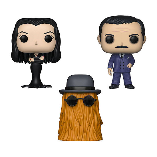 Funko Pop! Tv The Addams Family Collectors Set 1 - Morticia Gomez Cousin Itt