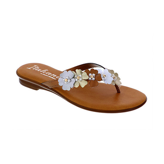 Italiana By Italian Shoemakers Womens Shanie Flat Sandals