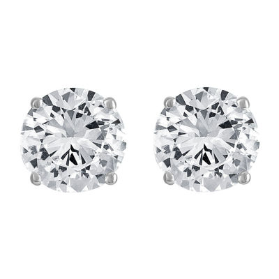 LIMITED TIME SPECIAL! 2.5 CT.T.W. Lab-Created White Sapphire Stud Earrings in Sterling Silver