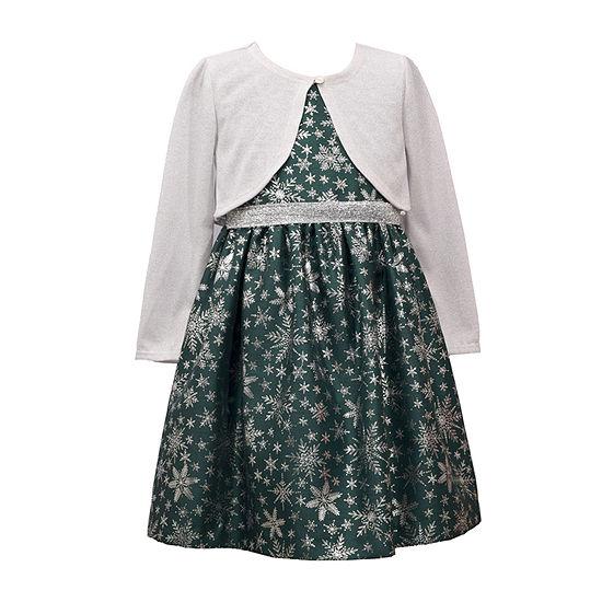 Bonnie Jean Girls 2-pc. Jacket Dress - Preschool / Big Kid