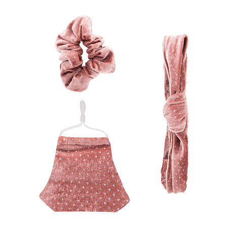 Unisex Adult Face Mask & Hair Set, One Size , Pink